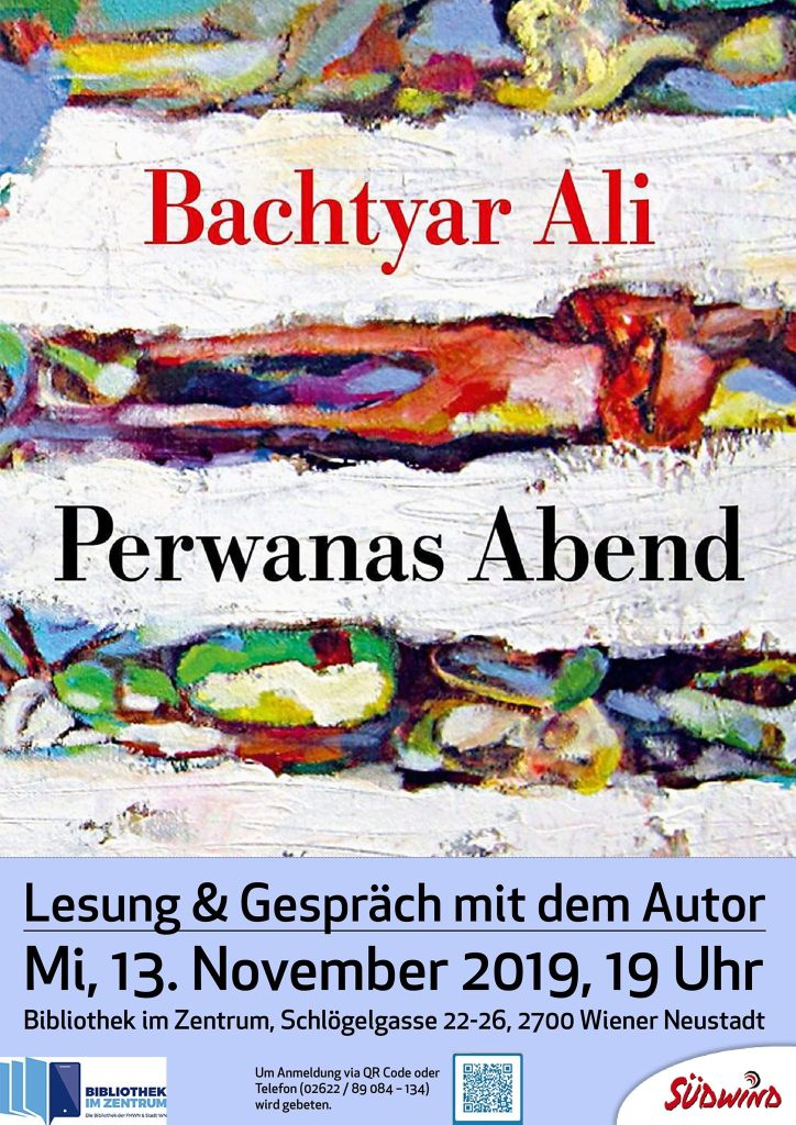 Flyer Lesung Bachtyar Ali
